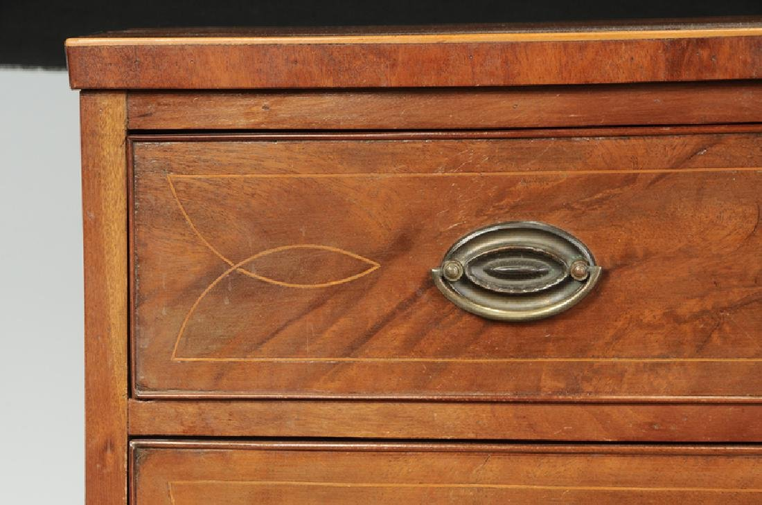 American Federal Inlaid Mahogany Bow Front Chest - 4