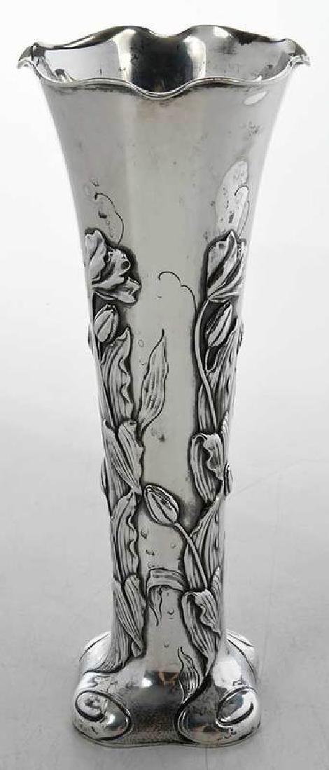 Shiebler Sterling Floral Vase - 3