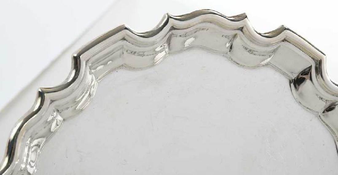 Five English Silver Trays - 2