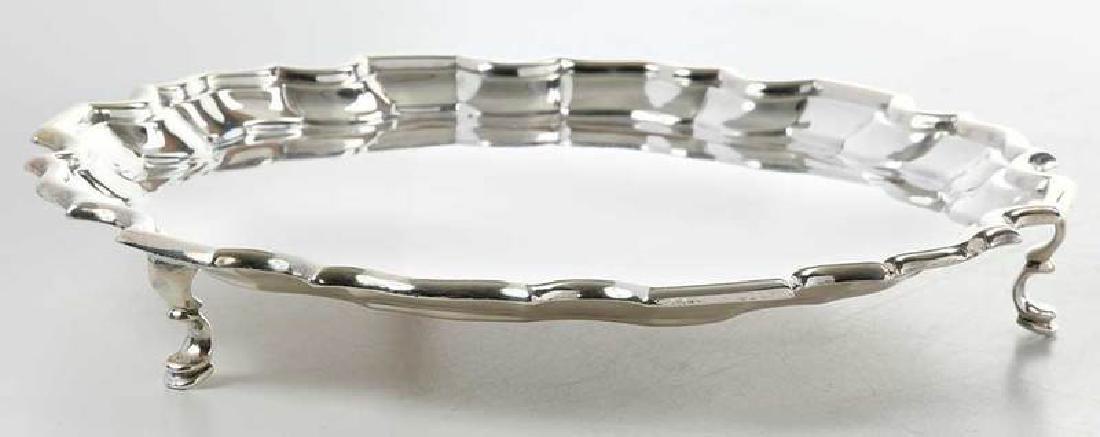 Five English Silver Trays - 3