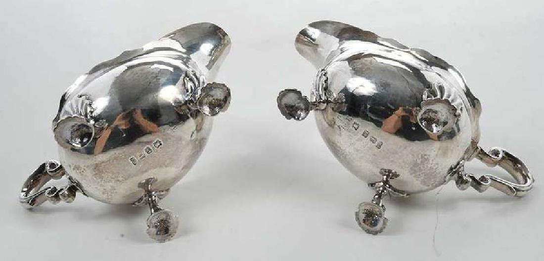 Pair George II English Silver Sauce Boats - 10