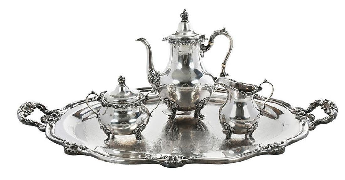 Gorham Sterling Coffee Service, Silver-Plate Tray