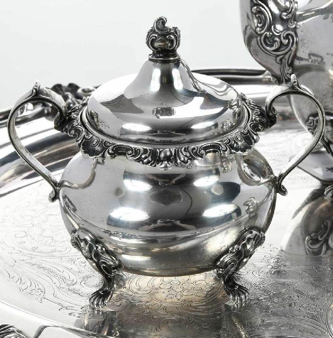 Gorham Sterling Coffee Service, Silver-Plate Tray - 3