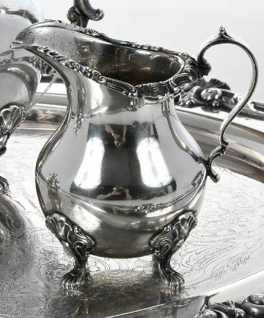 Gorham Sterling Coffee Service, Silver-Plate Tray - 4