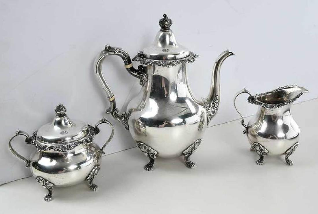 Gorham Sterling Coffee Service, Silver-Plate Tray - 6