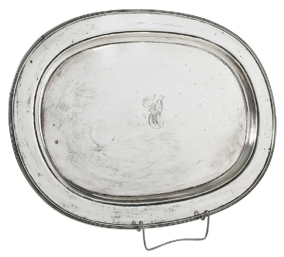 Large Unger Brothers Sterling Tray