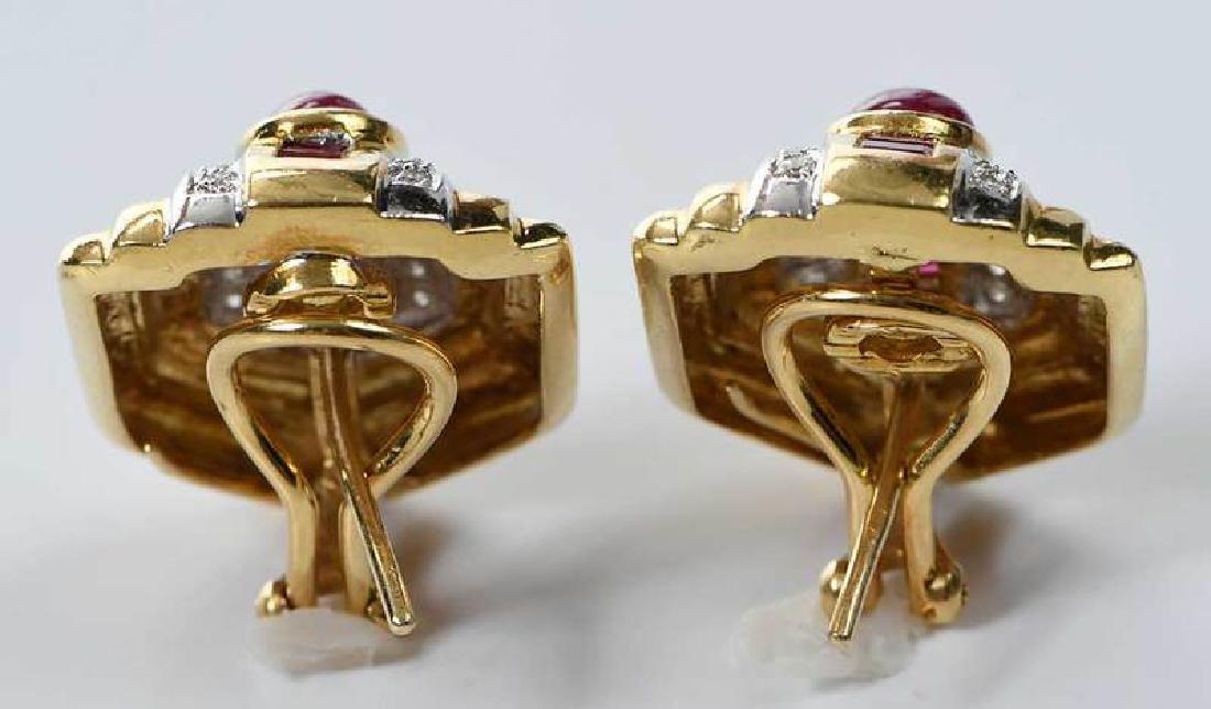 18kt. Ruby and Diamond Earrings - 3