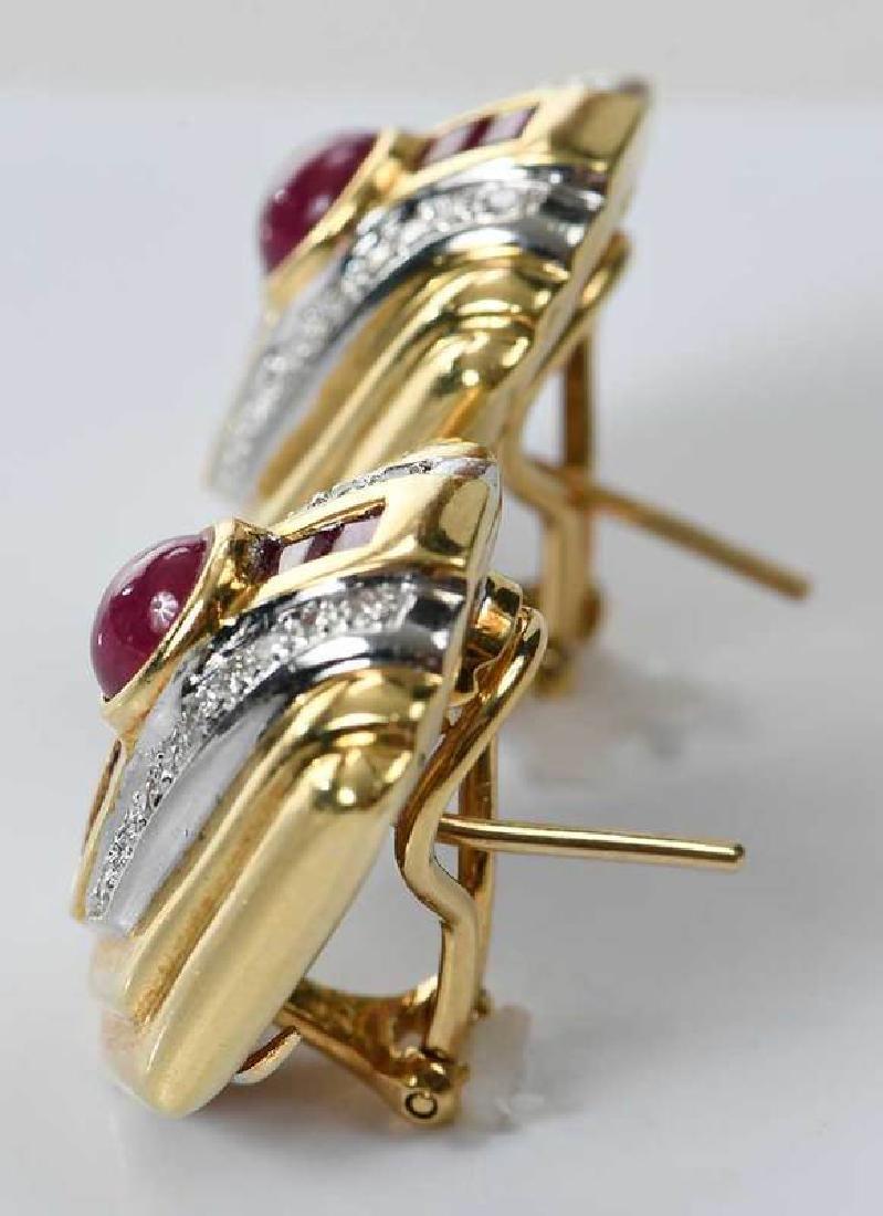 18kt. Ruby and Diamond Earrings - 4