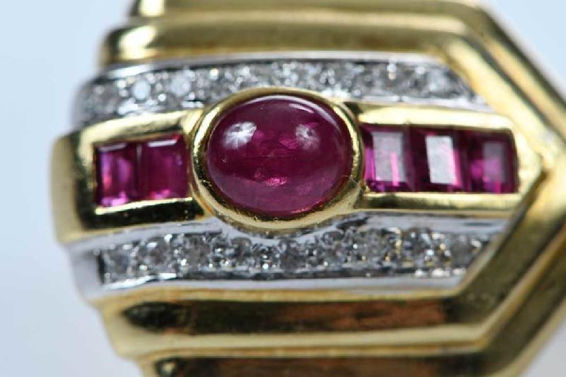 18kt. Ruby and Diamond Earrings - 8