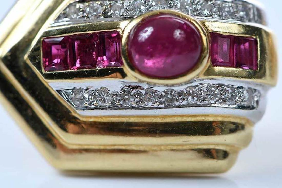 18kt. Ruby and Diamond Earrings - 9