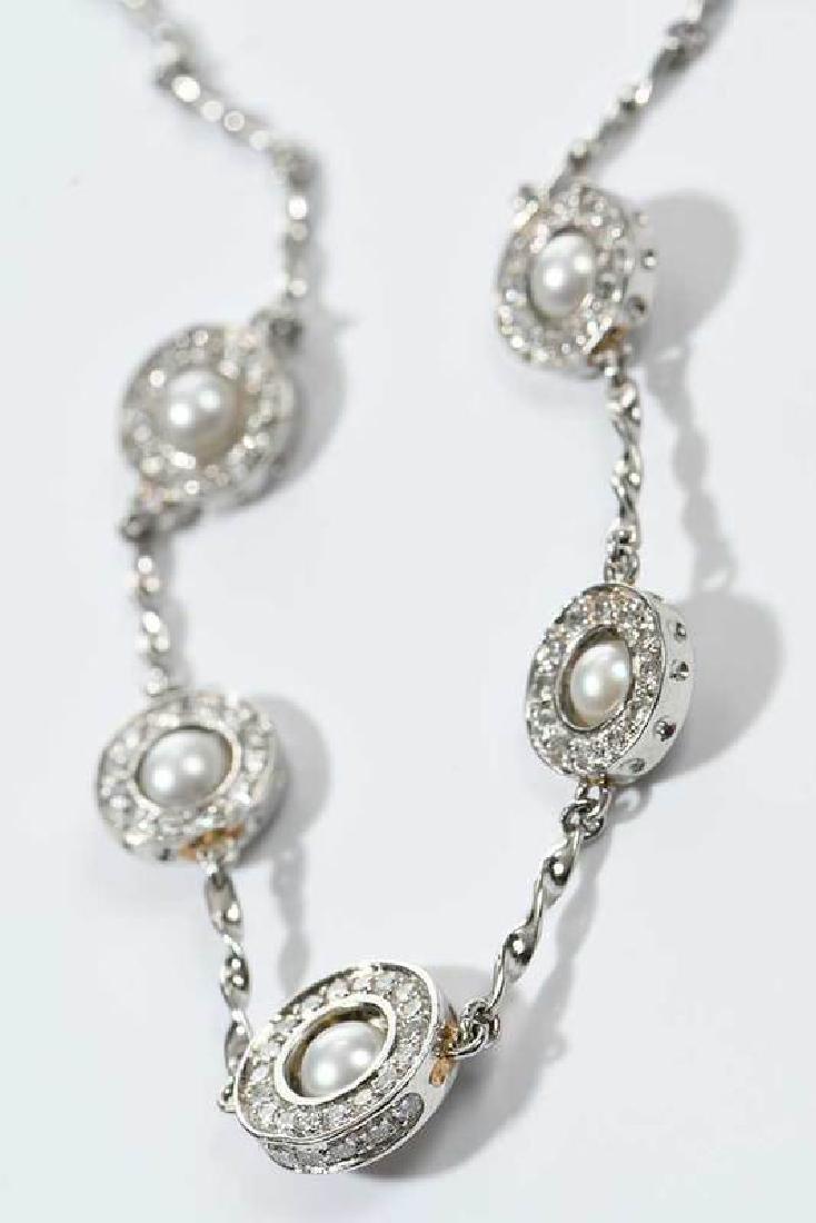 Platinum, Diamond and Sapphire Necklace - 7