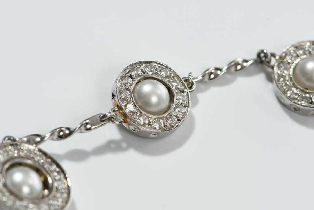Platinum, Diamond and Sapphire Necklace - 8
