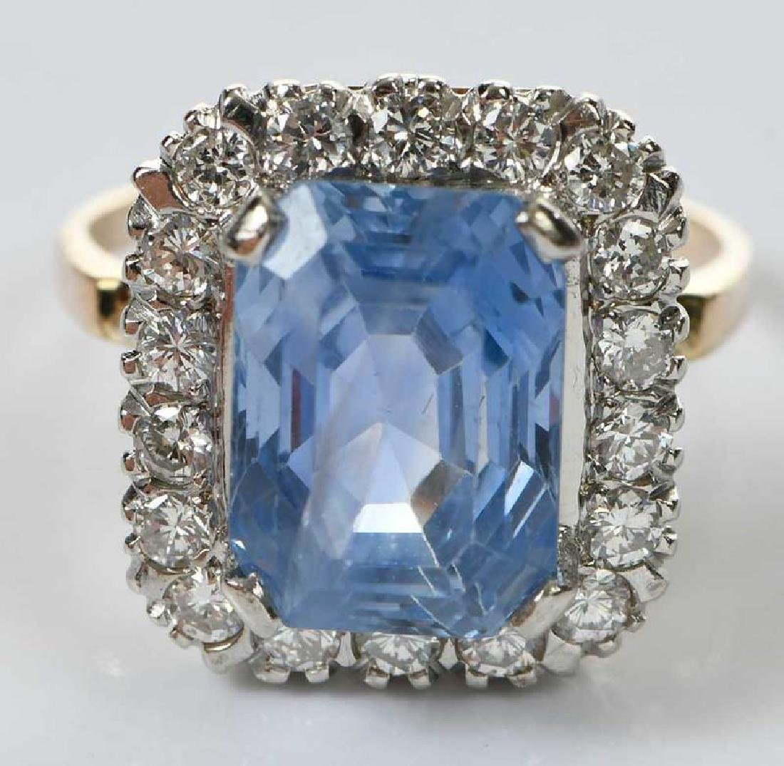 14kt. Sapphire and Diamond Ring - 2