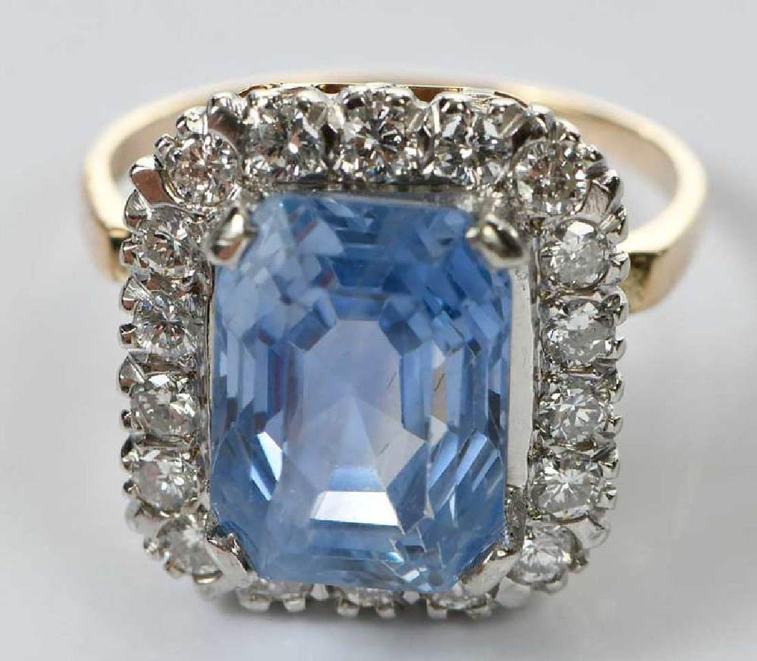 14kt. Sapphire and Diamond Ring - 3