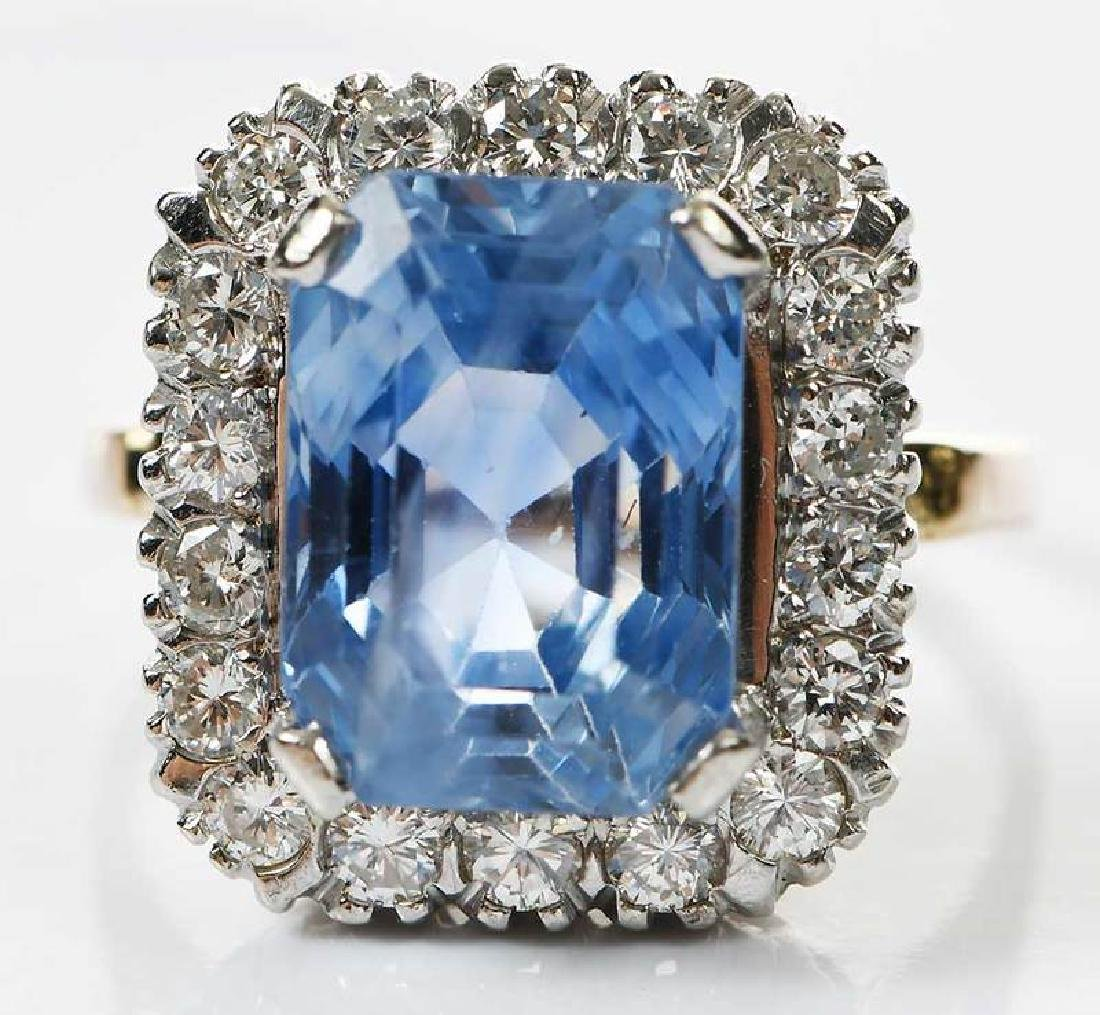 14kt. Sapphire and Diamond Ring - 4