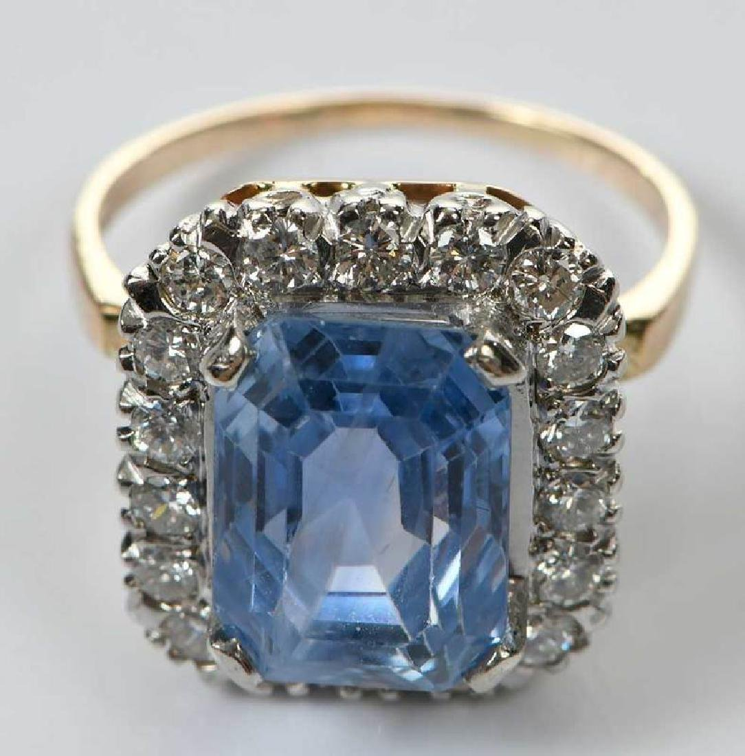 14kt. Sapphire and Diamond Ring - 5