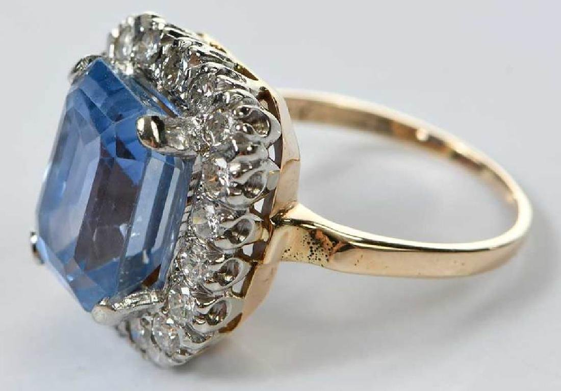 14kt. Sapphire and Diamond Ring - 6