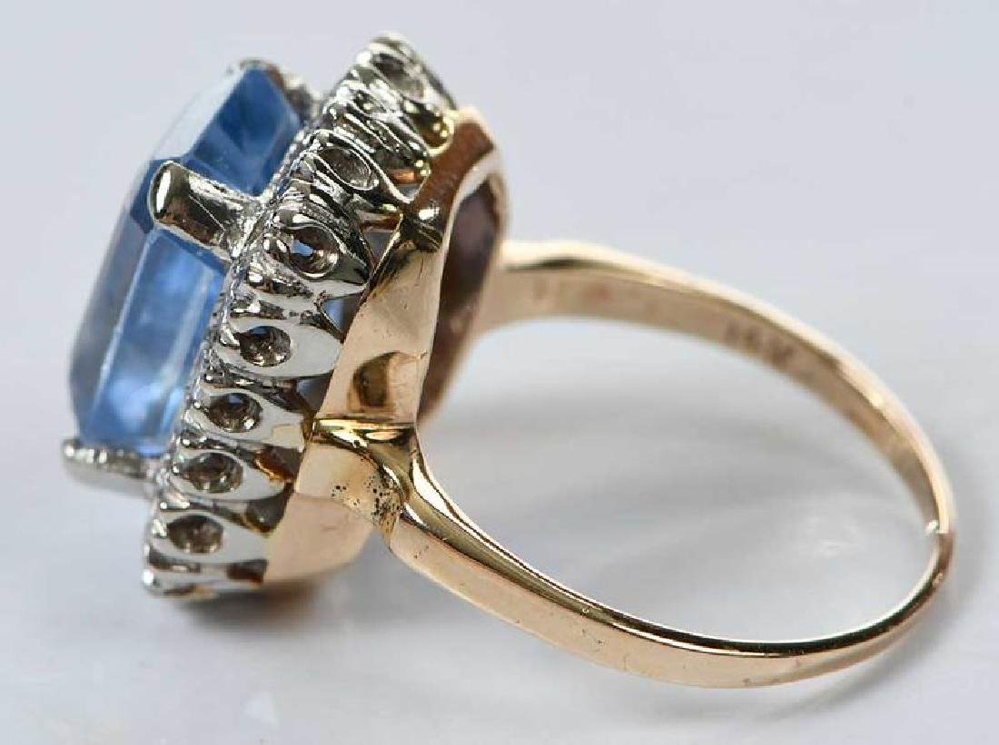 14kt. Sapphire and Diamond Ring - 7