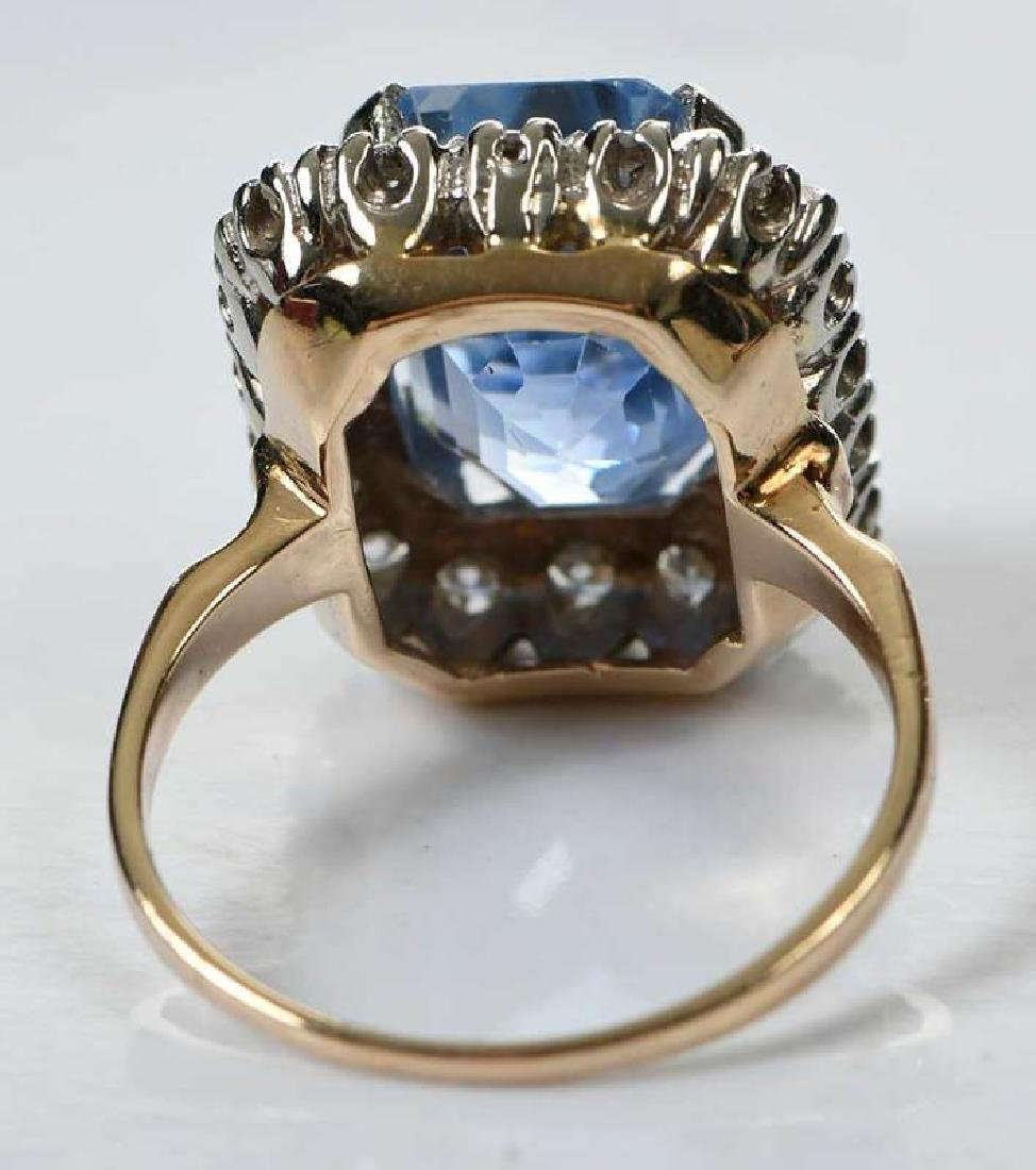 14kt. Sapphire and Diamond Ring - 8