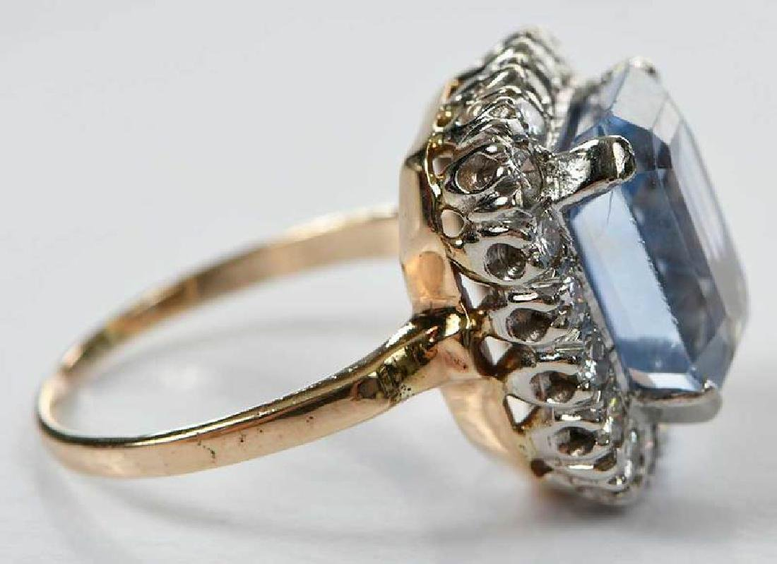 14kt. Sapphire and Diamond Ring - 9