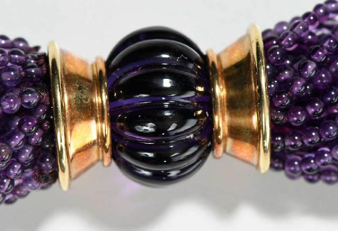 18kt. Amethyst, Blue Topaz and Diamond Necklace - 8