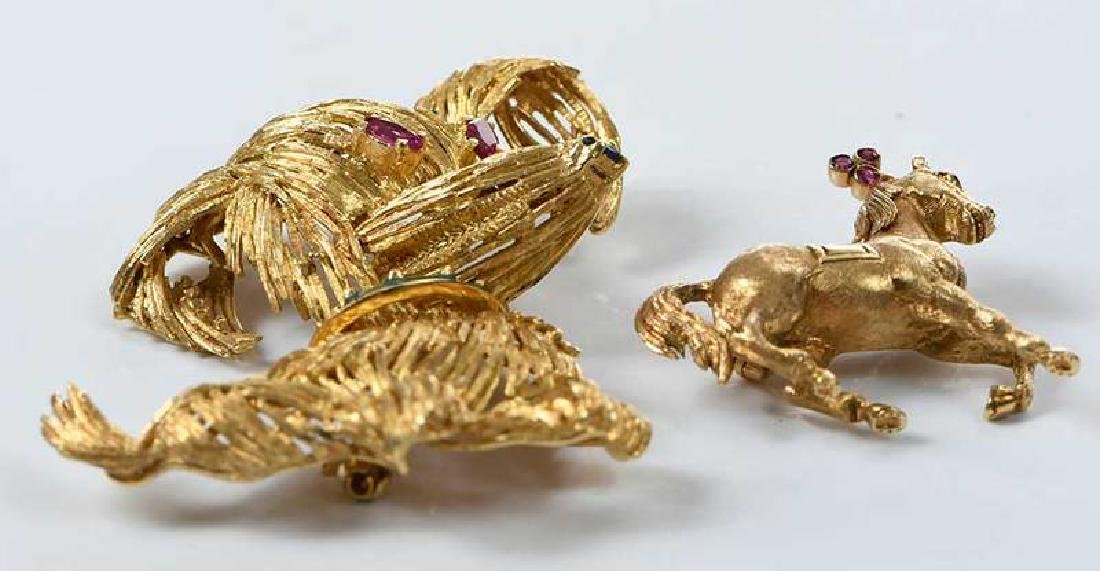 Two 18kt. Animal Brooches - 2