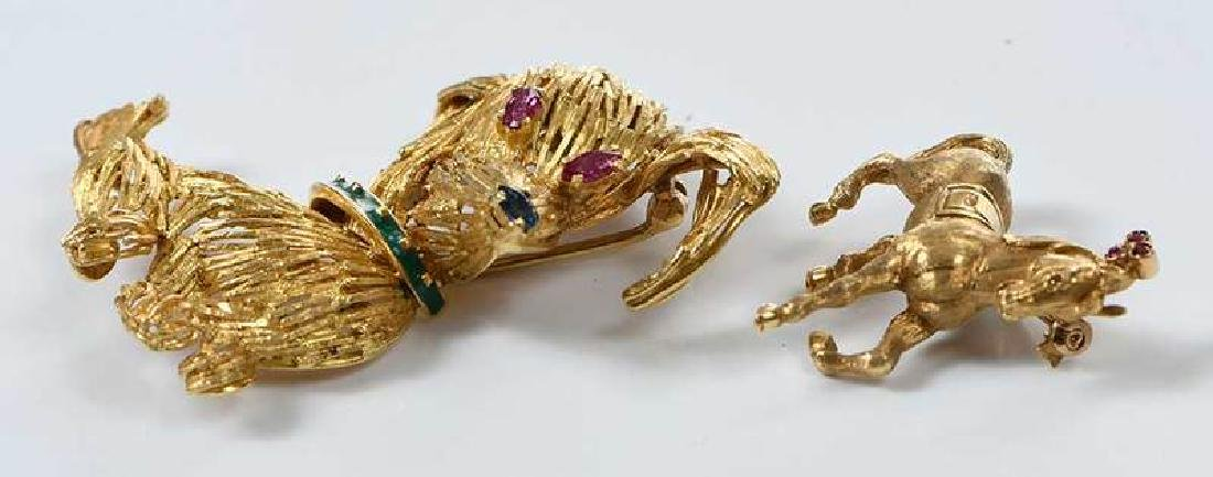 Two 18kt. Animal Brooches - 3