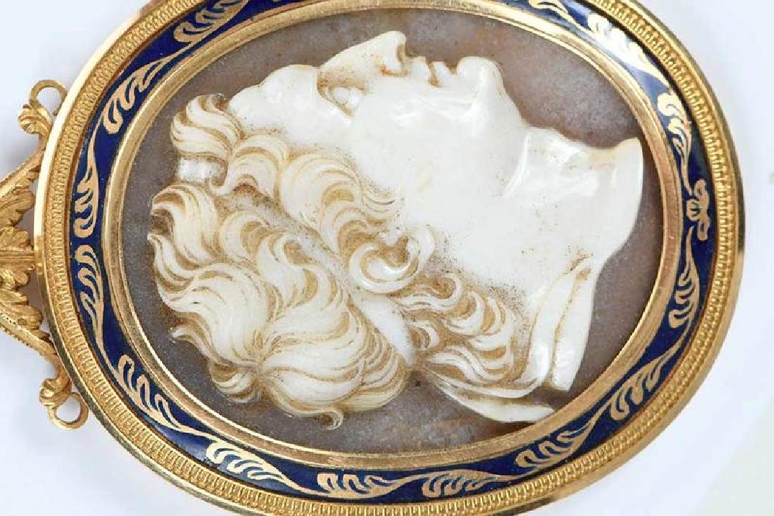 Gold Cameo Necklace - 2