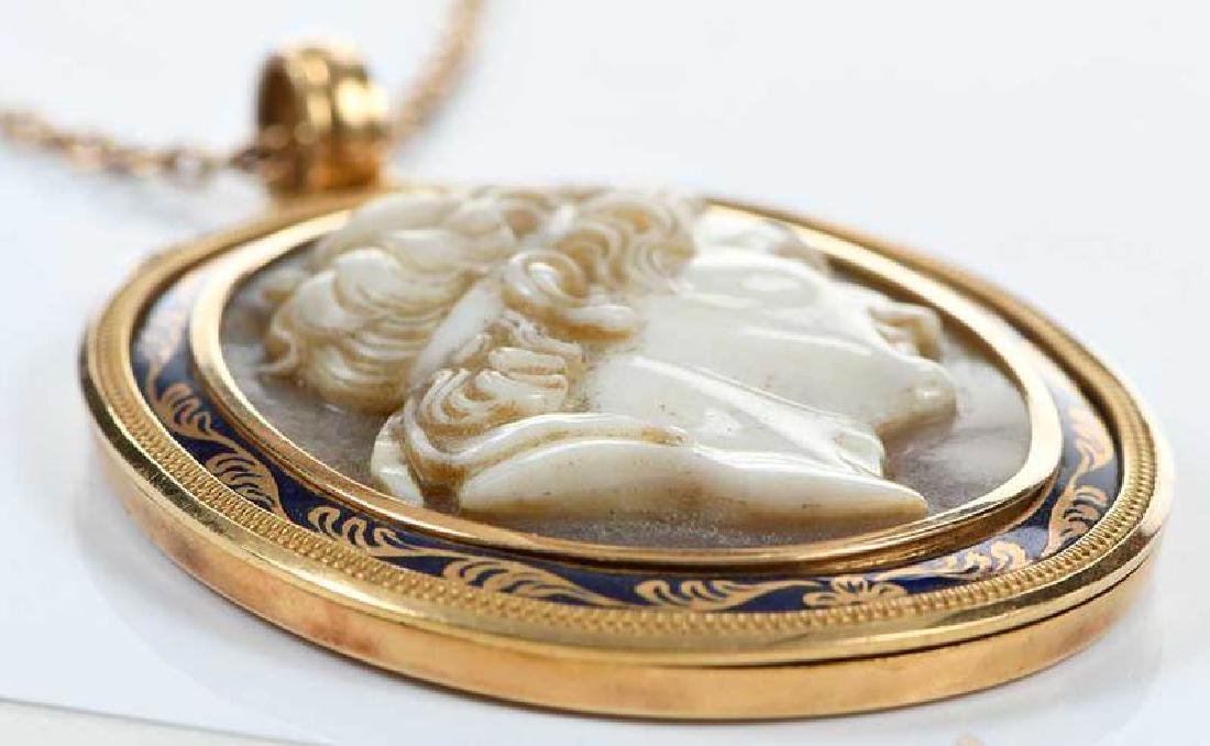 Gold Cameo Necklace - 3