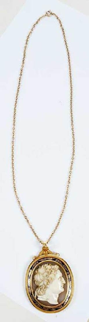 Gold Cameo Necklace - 6