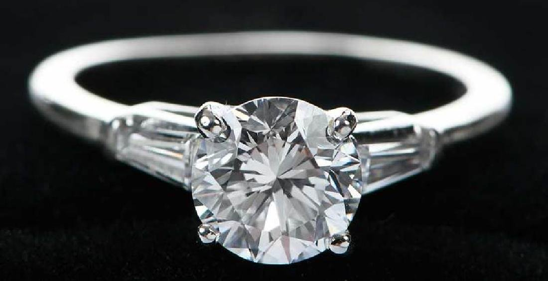 Platinum Diamond Ring - 10