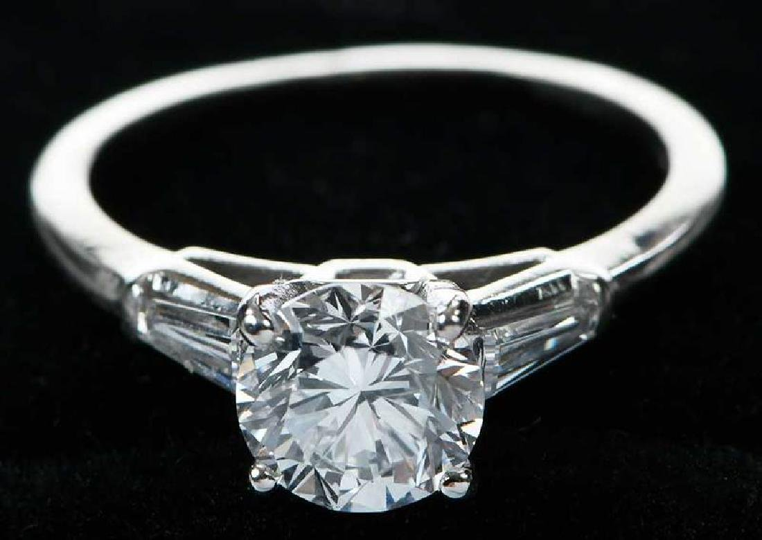 Platinum Diamond Ring - 9
