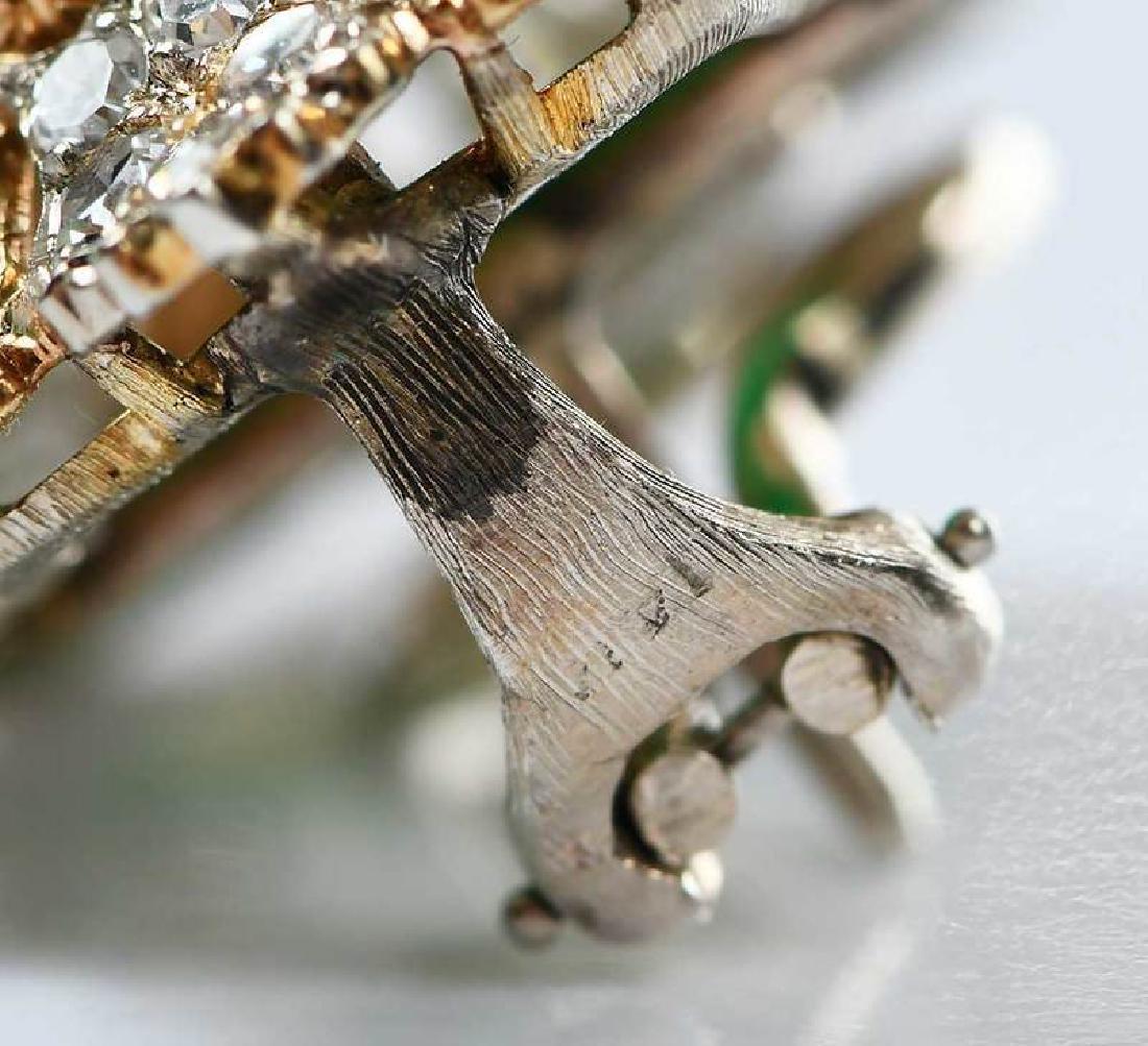 14kt. Chrysoprase and Diamond Earrings - 8