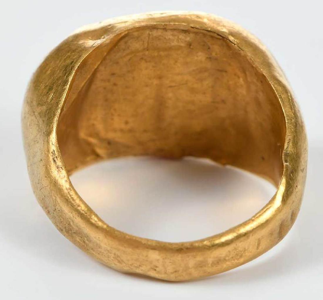Ancient Roman Carnelian Intaglio Ring - 6