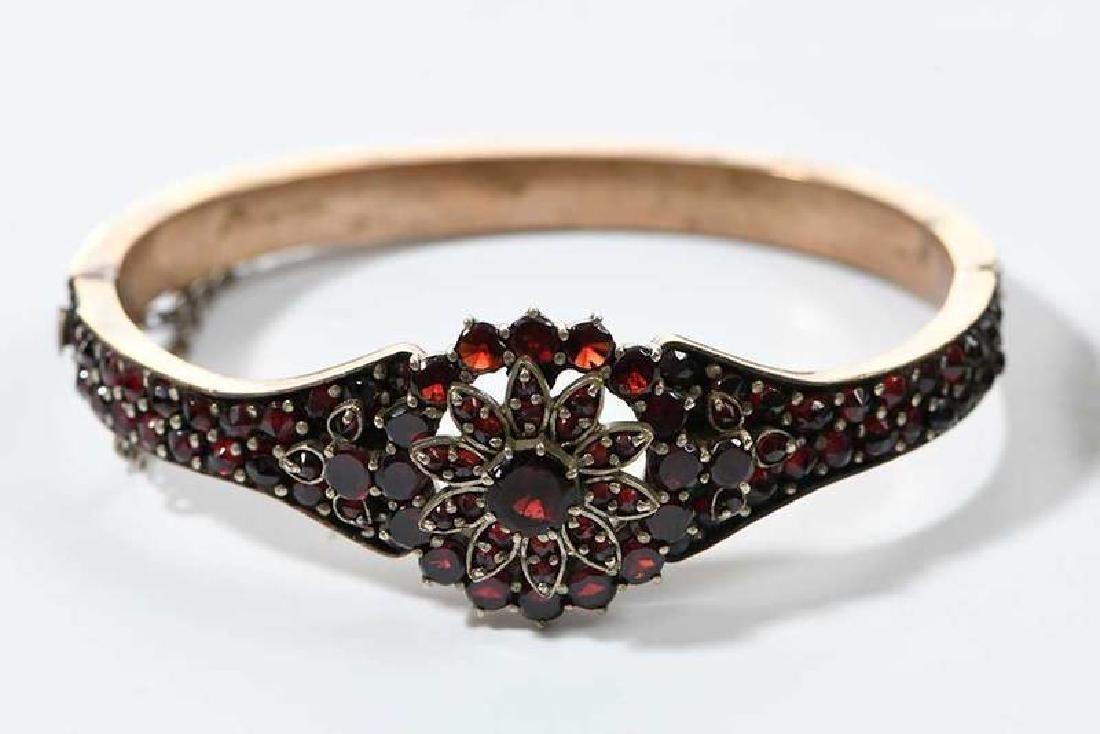 Two Bohemian Garnet Bracelets - 2