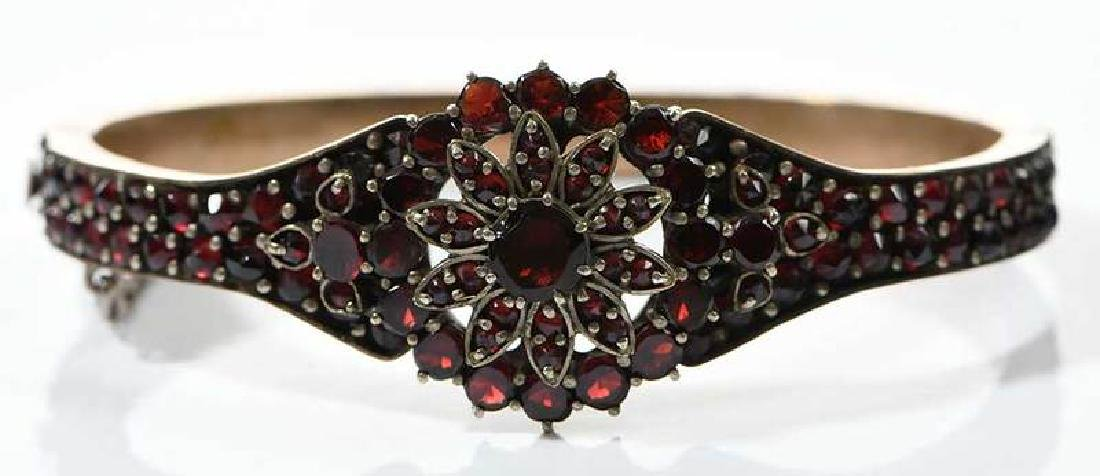 Two Bohemian Garnet Bracelets - 3