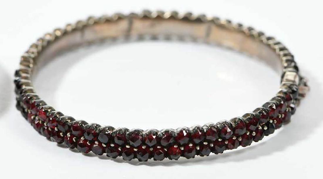 Two Bohemian Garnet Bracelets - 4