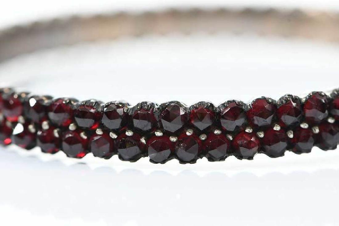 Two Bohemian Garnet Bracelets - 6