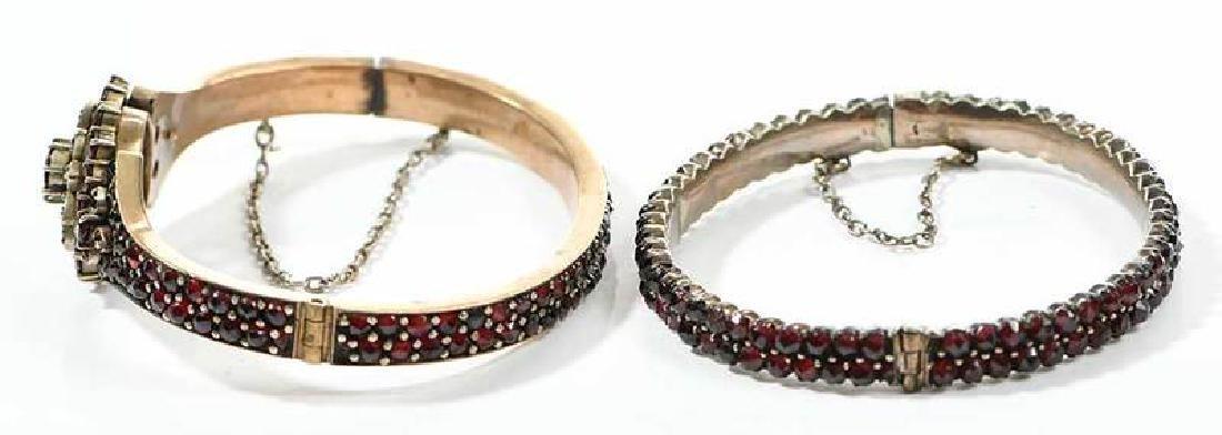 Two Bohemian Garnet Bracelets - 7