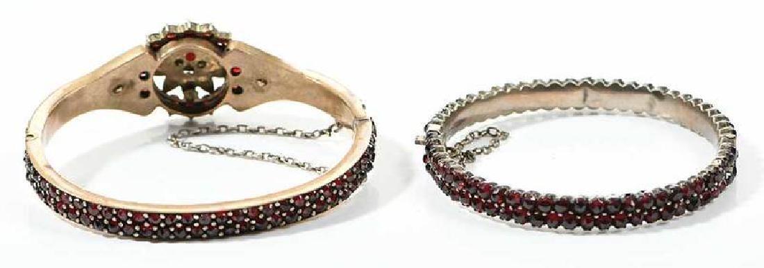 Two Bohemian Garnet Bracelets - 8