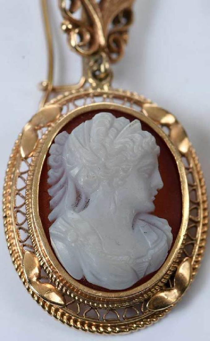 Antique 14kt. Cameo Earrings - 2