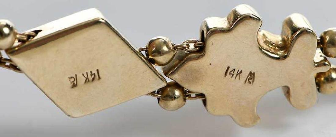 14kt. Slide Bracelet - 7