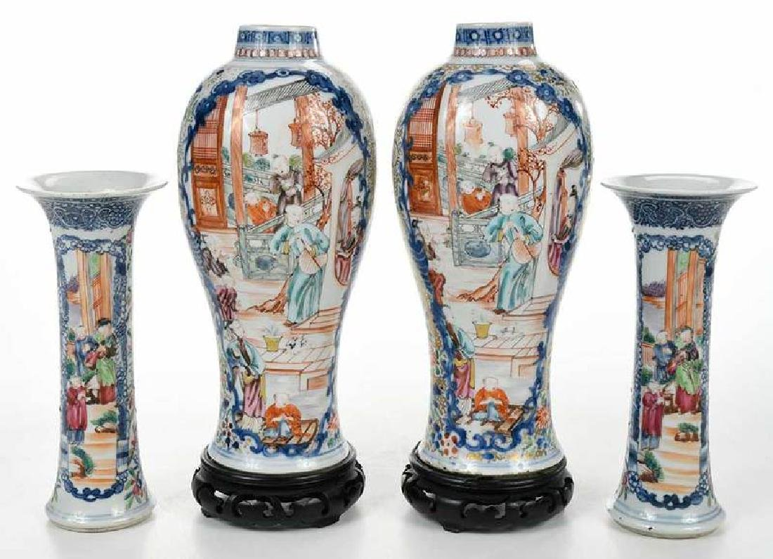 Two Pairs Chinese Export Vases - 6