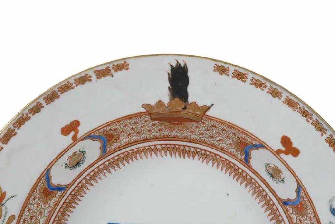 Pair Chinese Export Armorial Soup Bowls - 4