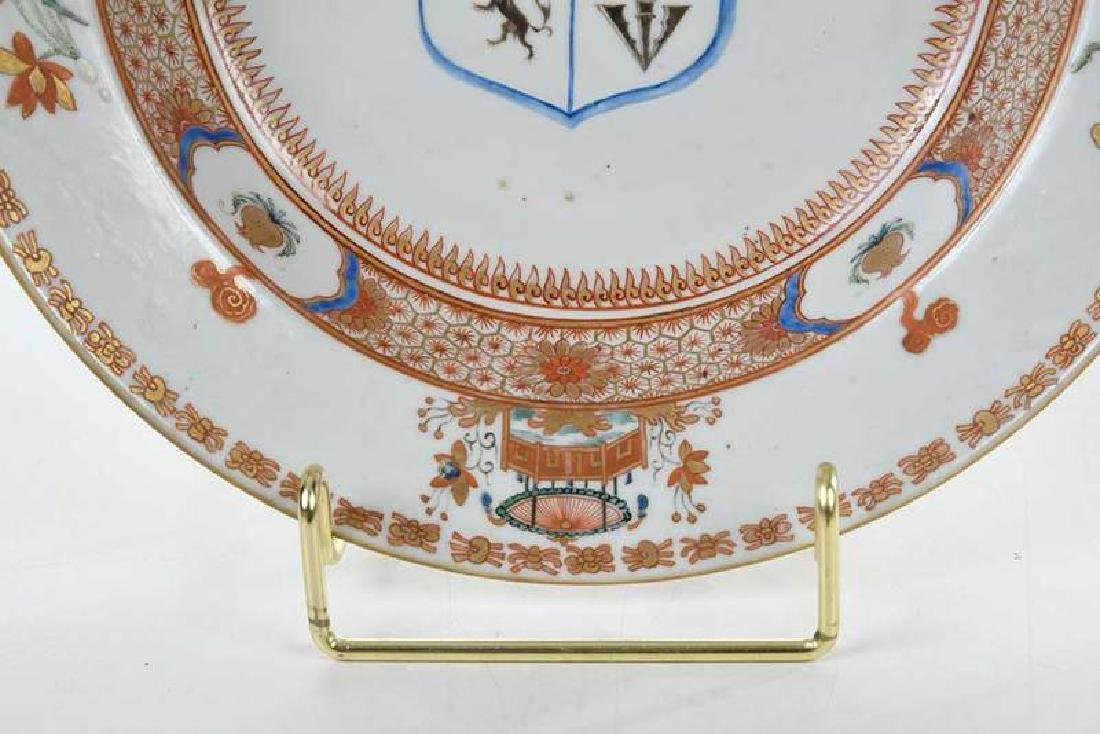 Pair Chinese Export Armorial Soup Bowls - 5