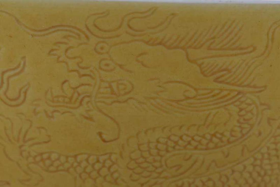 Chinese Yellow Bowl with Walking Dragons - 3