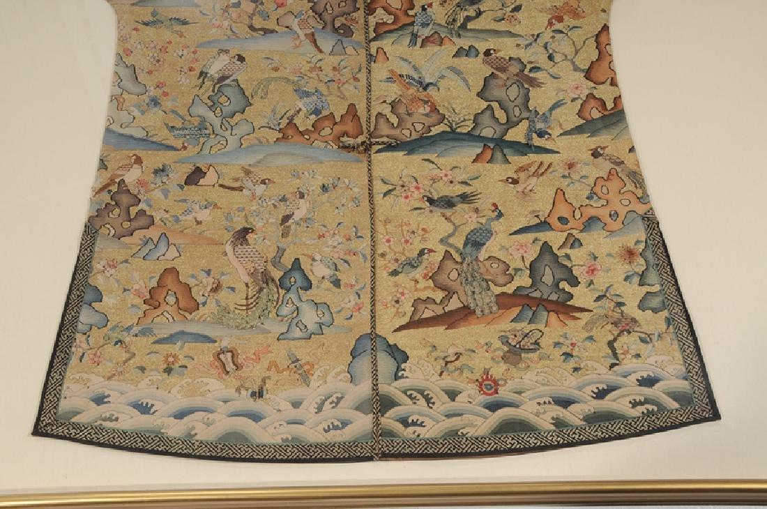 Rare Chinese Kesi Slit Tapestry Bird Robe - 3
