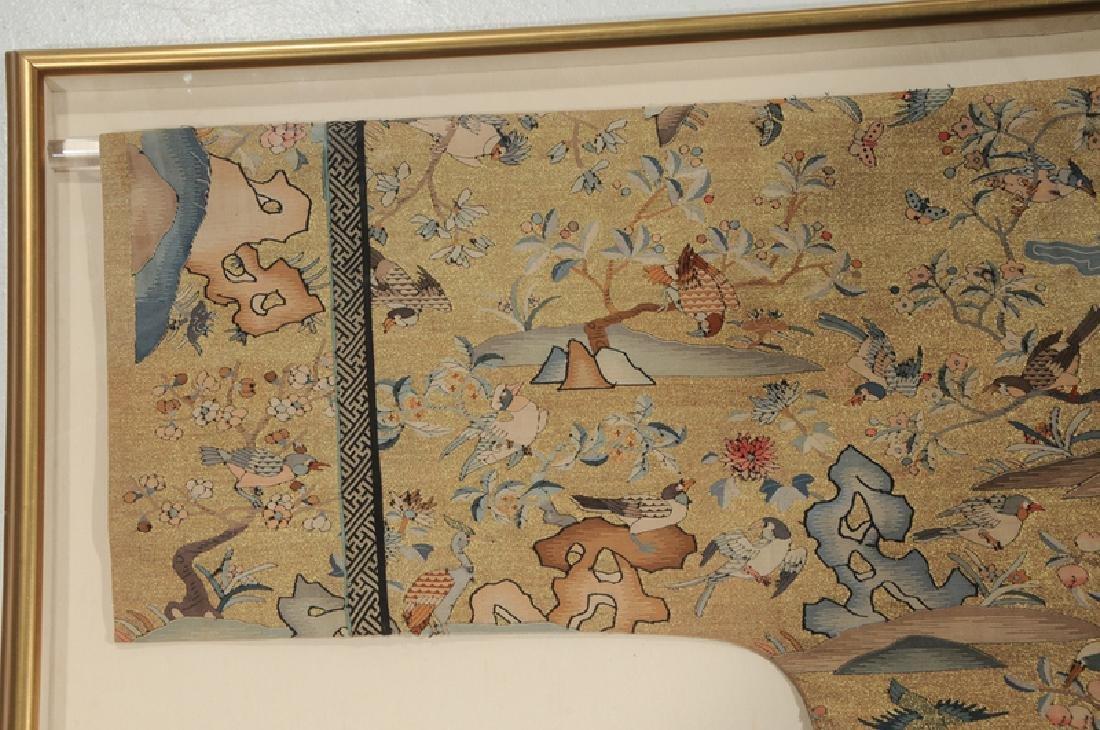 Rare Chinese Kesi Slit Tapestry Bird Robe - 4