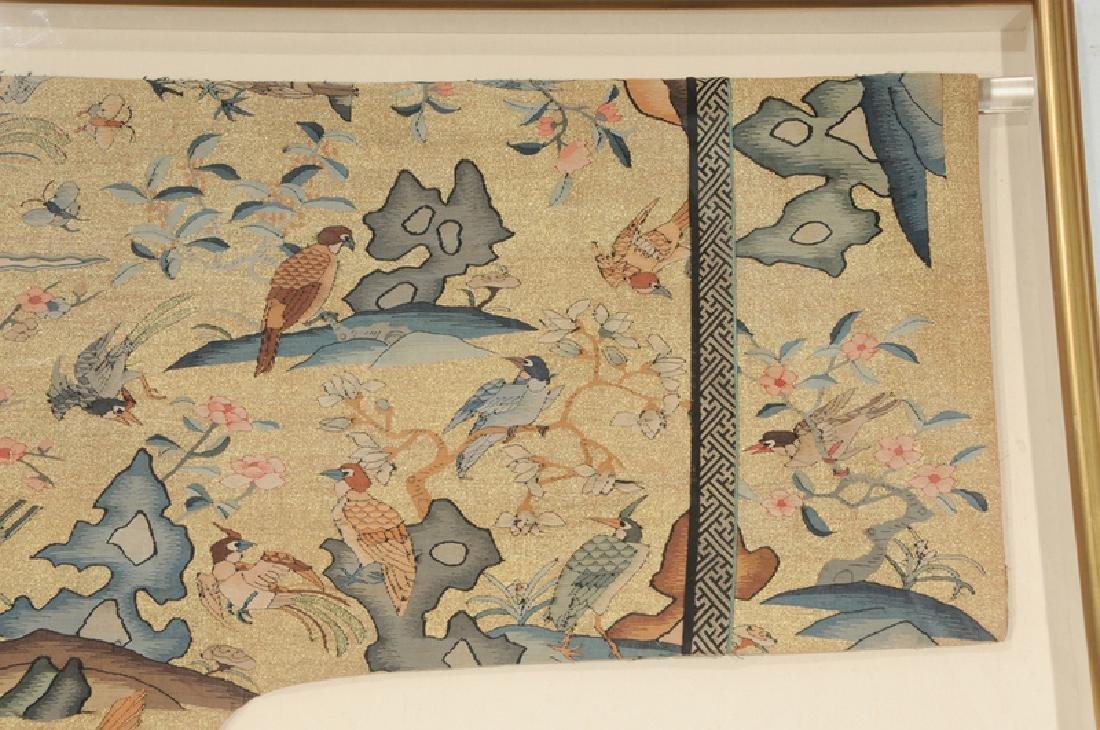 Rare Chinese Kesi Slit Tapestry Bird Robe - 5