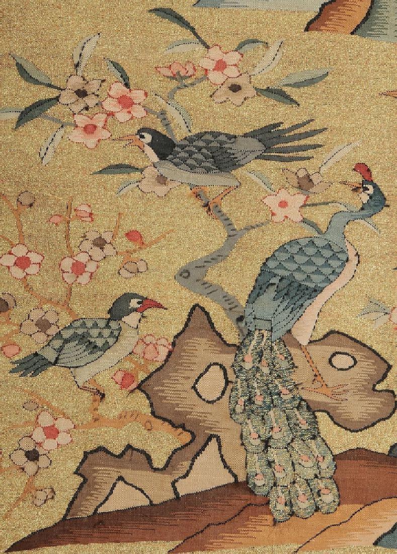 Rare Chinese Kesi Slit Tapestry Bird Robe - 6